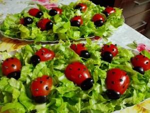 ירקות מקושטים לילדים