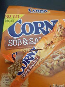 טעם חדש בסדרת חטיפי הדגנים של CORNY קורני בוטנים מתוק מלוח