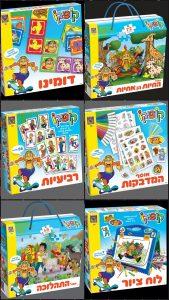 """קופיקו, המותג האהוב והעל-זמני, גאה להציג: סדרת משחקי קופסה וערכות יצירה בשיתוף פעולה ראשון מסוגו עם """"משחקי יצירה"""", מותג משחקי הילדים המוביל בישראל! """"משחקי יצירה"""" היא אחת מן החברות המובילות בישראל בפיתוח, בייצור, בשיווק וביצוא של משחקים וערכות לילדים. היא משמשת זכיינית של """"מותגי על"""" ומייצרת משחקים ופעילויות לילדים עפ""""י סרטים המופקים ע""""י חברות ענק כדוגמת וולט דיסני, ניקולודיאון, מרוול, מטוסי על, כוח הפי.ג'יי, דרדסים ועכשיו גם המותג שכולנו גדלנו עליו, קופיקו! קופיקו ו""""משחקי יצירה"""" משיקים סדרת ערכות יצירה ומשחקי קופסא מגוונים ומרתקים לילדים החל מגיל 3. הסדרה החדשה כוללת 7 מוצרים ממותגים """"קופיקו"""" ביניהם ניתן למצוא: לוח ציור, אוסף מדבקות, לוטו זיכרון, דומינו, רביעיות, פאזל ריצפה """"החיות הן חיות"""" (72 חלקים) ,פאזל ריצפה """"התהלוכה"""" (48 חלקים), פאזל ריצפה """"החלל החיצון"""" (48 חלקים) ופאזל ריצפה """"מופע הדולפינים"""" (72 חלקים). בסדרת המשחקים החדשה מוזמנים הילדים ליצור, לצייר לחשוב ובעיקר להנות עם קופיקו וחבריו! קופיקו הוא האחד והיחיד אשר רק לגביו יכולים אנשים לא מעטים לומר: גם אנחנו, גם הורינו וגם ילדינו נהנינו וצחקנו לכל אורכה של ילדות מחויכת ונפלאה בזכותו. הסדרה החדשה מקנה להורה ולילד זמן איכות יצירתי. אחד מיסודות הצלחתו של קופיקו לאורך השנים, הספרים, ההצגות והסרטים הוא מוטיב החידוש וההפתעה - לעשות או לומר ברגע ובזמן המתאים את הבִלתי צפוי אך הנכון, הפשוט, המועיל והמצחיק. גם עתה, כאמור למעלה מ- 65 שנה לאחר שהגיע אלינו מאפריקה הרחוקה, מוסיף קופיקו להפתיע, לחדש ולהתאים עצמו לזמן המשתנה ולצרכי הילדים בו וממשיך להיות מותג מוביל בתחומו. מחיר לצרכן: 40-131 ₪ ניתן להשיג ברשתות הצעצועים המובחרות"""