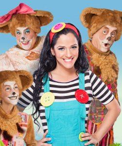 זהבה ושלושת הדובים  בגרסה בימתית בכיכובה של  מיקי כוכבת הילדים